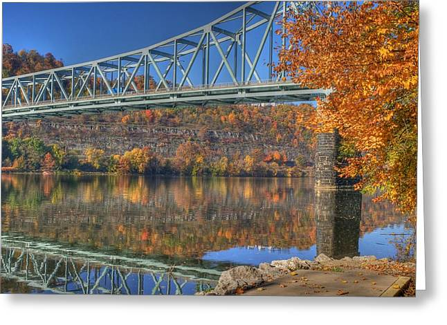 Sewickley . Greeting Cards - Autumn splendor on the Ohio river  Greeting Card by Jay Seeley