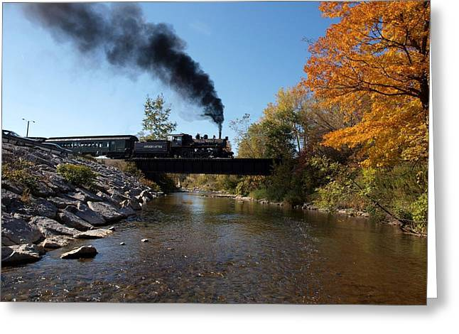 Joshua House Greeting Cards - Autumn Steam Greeting Card by Joshua House