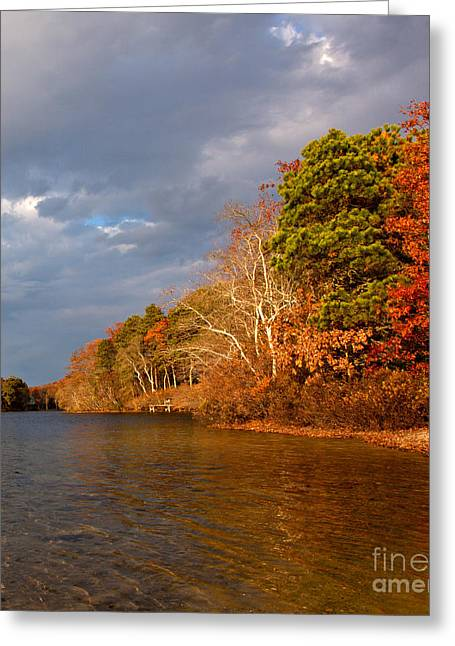 Storm Clouds Cape Cod Greeting Cards - Autumn Storm Approaching Greeting Card by Michelle Wiarda