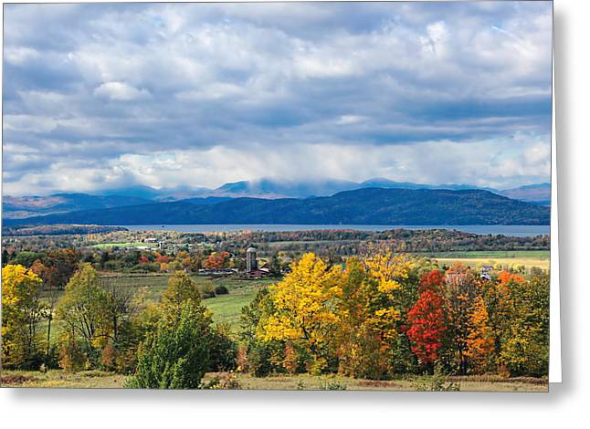 Charlotte Vermont Greeting Cards - Autumn Storm Approaching Greeting Card by William Alexander