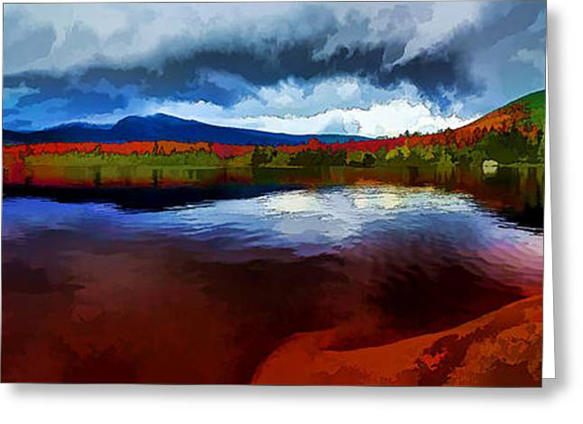Blue Green Water Digital Greeting Cards - Autumn Storm at Roaring Brook Greeting Card by Bill Caldwell -        ABeautifulSky Photography