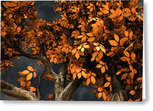 Autumn Storm Greeting Card by Cynthia Decker