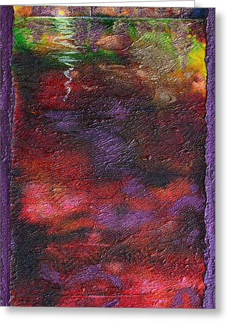 Storm Mixed Media Greeting Cards - Autumn Storm Passes Greeting Card by Donna Blackhall