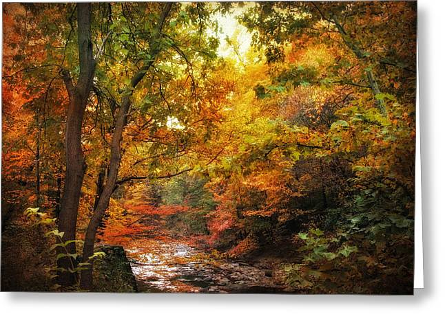 Autumn Stream Greeting Card by Jessica Jenney
