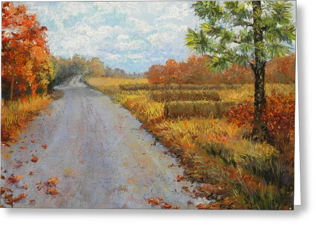Bale Pastels Greeting Cards - Autumn Stroll Greeting Card by Lorraine McFarland
