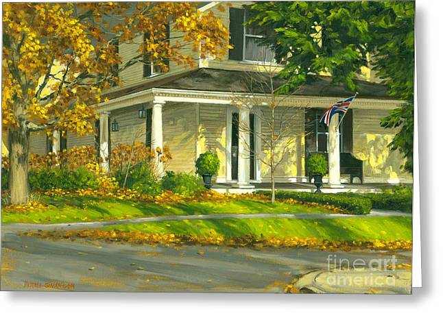 Artist Michael Swanson Paintings Greeting Cards - Autumn Sunlight II 18 x 24 Greeting Card by Michael Swanson