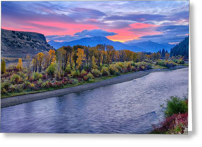 Idaho Greeting Cards - Autumn Sunrise on the Snake River Greeting Card by Greg Norrell