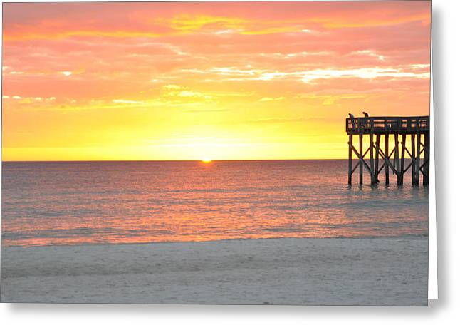 Panama City Beach Greeting Cards - Autumn Sunset Greeting Card by April Moran