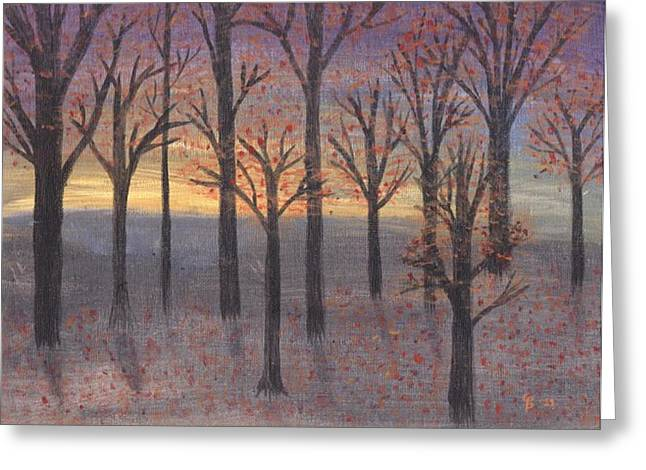 Harpers Ferry Paintings Greeting Cards - Autumn Sunset Greeting Card by Cathy Pierce Payne
