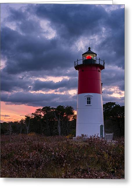 Nauset Beach Greeting Cards - Autumn Sunset Greeting Card by Michael Blanchette