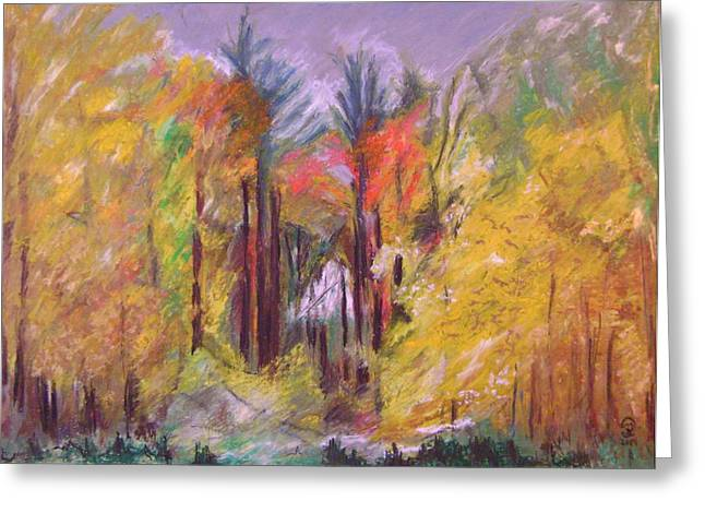 Portal Pastels Greeting Cards - Autumn Sunset Portal  Greeting Card by Therese Legere