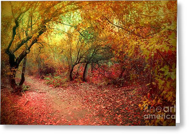 Hobo Greeting Cards - Autumn Surrender Greeting Card by Tara Turner