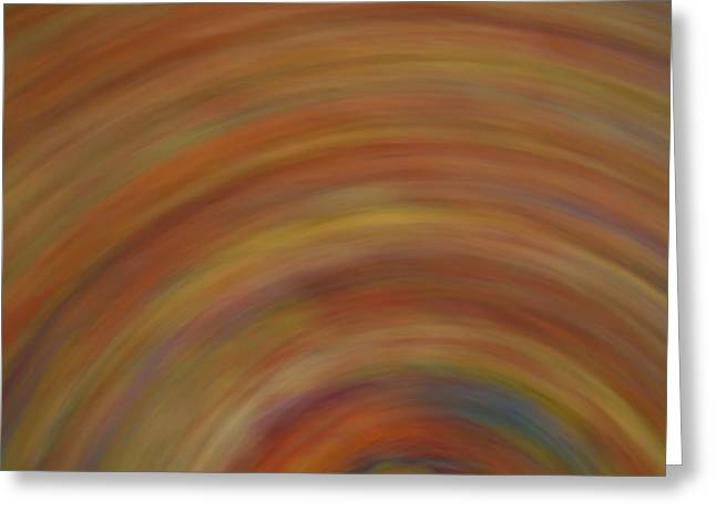 Swirls Of Energy Greeting Cards - Autumn Swirl Greeting Card by Dan Sproul