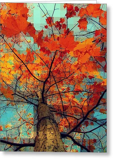 Interior Still Life Digital Art Greeting Cards - Autumn talk 3 Greeting Card by France Laliberte