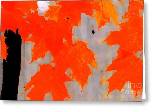 Interior Still Life Digital Art Greeting Cards - Autumn talk Greeting Card by France Laliberte