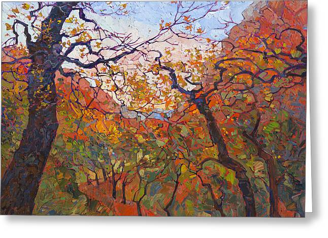 Recently Sold -  - Southern Utah Greeting Cards - Autumn Tapestries Greeting Card by Erin Hanson