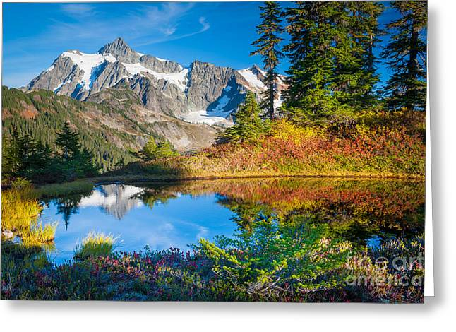 North Cascades Greeting Cards - Autumn Tarn Greeting Card by Inge Johnsson