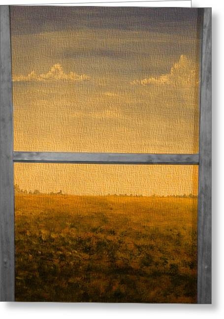 Autumn Landscape Mixed Media Greeting Cards - Autumn Through The Window Greeting Card by Dan Sproul