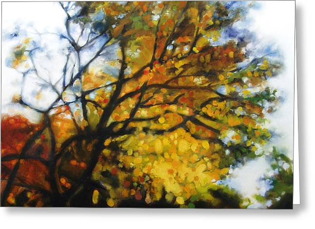 Photo-realism Greeting Cards - Autumn Tree Greeting Card by Cap Pannell