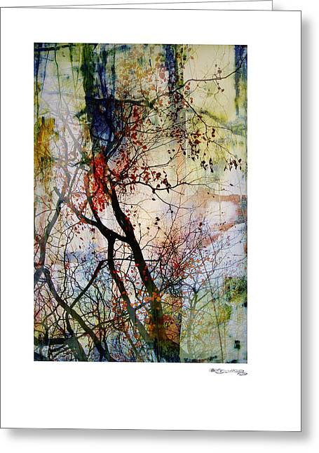 Cespon Greeting Cards - Autumn Tree Composition  Greeting Card by Xoanxo Cespon