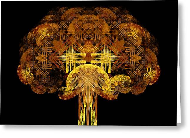 Autumn Tree Greeting Card by Sandy Keeton