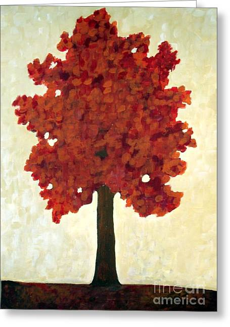 Autumn Tree Greeting Card by Venus