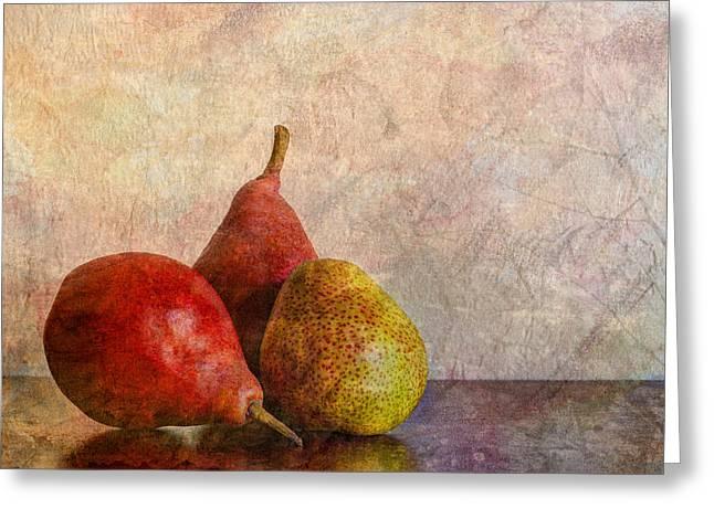 Harvest Art Greeting Cards - Autumn Trio  Greeting Card by Heidi Smith