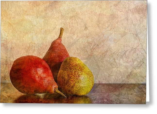 Pear Photographs Greeting Cards - Autumn Trio  II Greeting Card by Heidi Smith