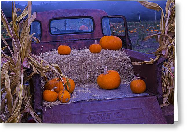 Rusty Pickup Truck Greeting Cards - Autumn Truck Greeting Card by Garry Gay