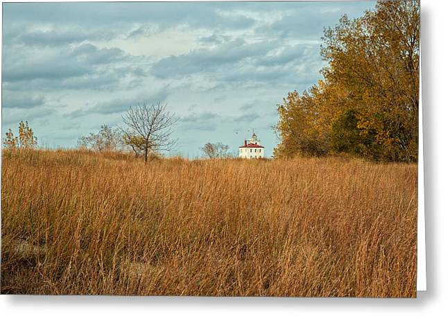 Lake House Greeting Cards - Autumn Twilight Greeting Card by Dale Kincaid