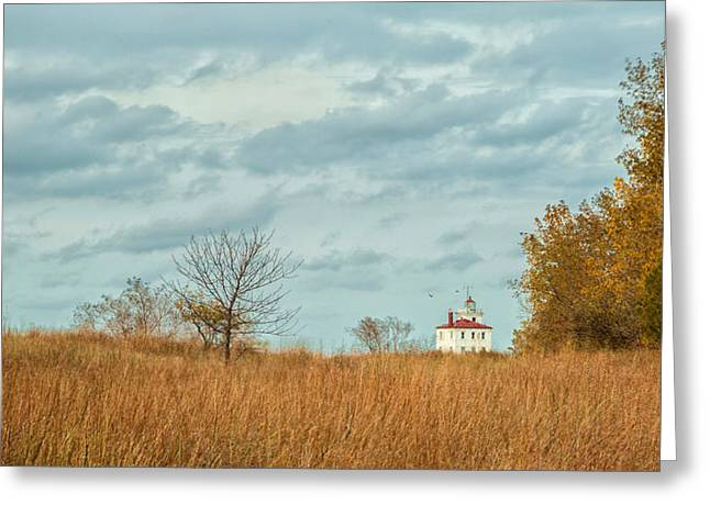 Lake House Greeting Cards - Autumn Twilight Pano Greeting Card by Dale Kincaid