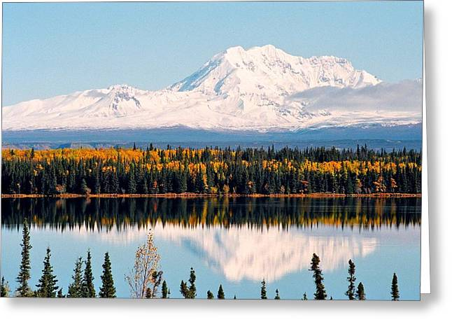 Juergen Weiss Greeting Cards - Autumn View of Mt. Drum - Alaska Greeting Card by Juergen Weiss