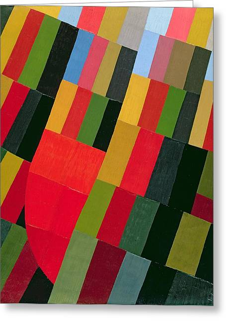 Abstract Geometric Greeting Cards - Autumn Vision, 1935 Oil On Canvas Greeting Card by Otto Freundlich