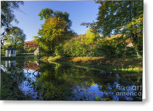 Pond Framed Prints Greeting Cards - Autumn Waltz Greeting Card by Ian Mitchell