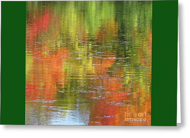 Square Format Greeting Cards - Autumn Water Colors Greeting Card by Ann Horn