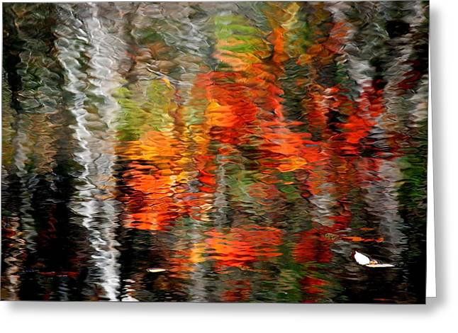 Autumn Water Colors Greeting Card by Frozen in Time Fine Art Photography