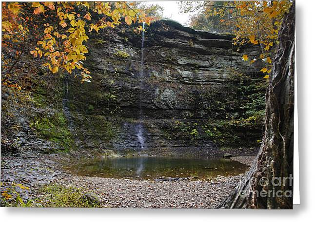 Arkansas Greeting Cards - Autumn Waterfall Greeting Card by Brandon Alms