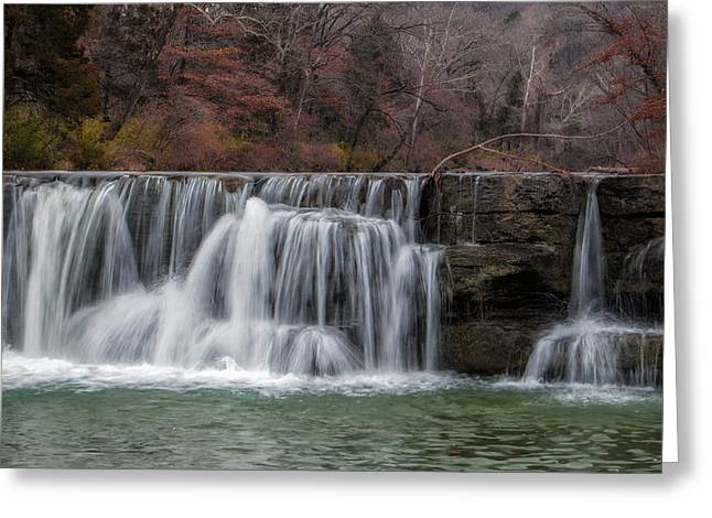 Arkansas Greeting Cards - Autumn Waterfall Greeting Card by James Barber