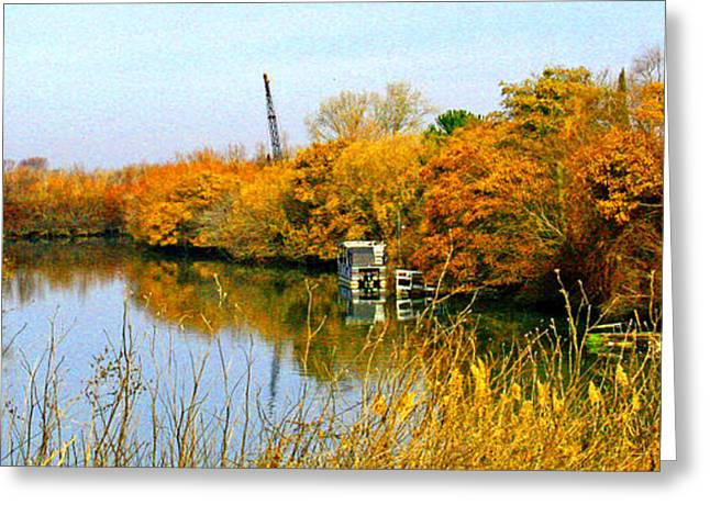 Autumn Weekend On The Delta Greeting Card by Joseph Coulombe