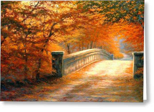 Autumn Prints Greeting Cards - Autumn Whispers Greeting Card by Georgiana Romanovna