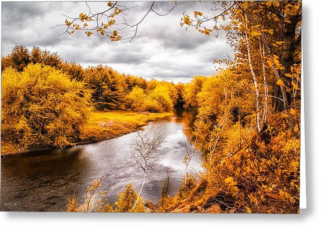 Autumn White Mountains Maine Greeting Card by Bob Orsillo