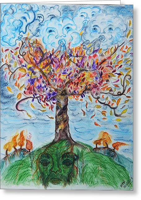 Autumn Winds Greeting Card by Mimulux patricia no No