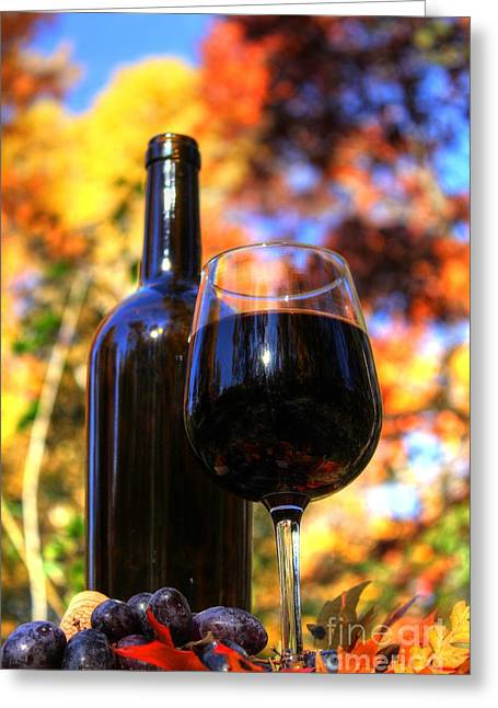 Wine Grape Print Greeting Cards - Autumn Wine 2 Greeting Card by Jimmy Ostgard