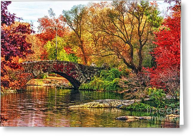 Pond In Park Greeting Cards - Autumn Wonderland Greeting Card by Nishanth Gopinathan