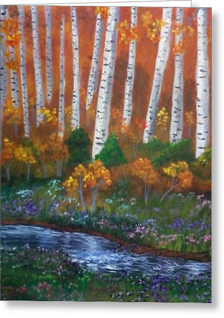 Jimmy Johnson Greeting Cards - Autumn Woods Greeting Card by Jimmy Johnson