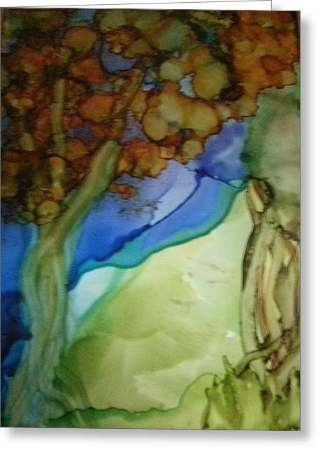 Prague Paintings Greeting Cards - Autumn Woods Greeting Card by Kelly Dallas