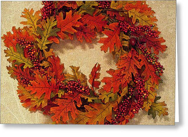 Autumn Wreath Greeting Card by Aimee L Maher Photography and Art Visit ALMGallerydotcom
