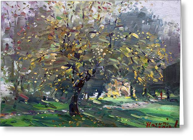 Autumn Landscape Paintings Greeting Cards - Autumn Greeting Card by Ylli Haruni
