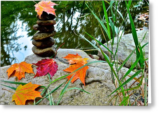 Crisp Greeting Cards - Autumn Zen Greeting Card by Frozen in Time Fine Art Photography
