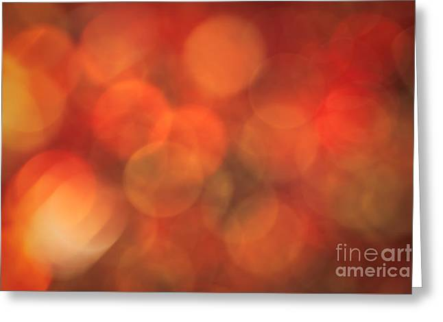 Warm Colours Abstract Greeting Cards - Autumnal Amber Greeting Card by Jan Bickerton